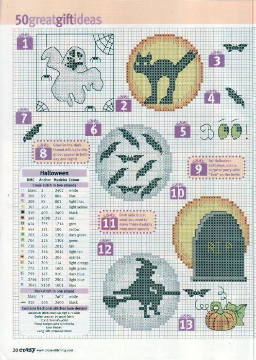 50 Halloween Cross Stitch Patterns