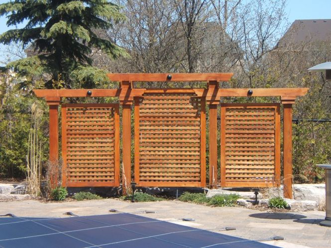 Wood privacy screen privacy screens http notjustdecks ca for Wood deck privacy panels