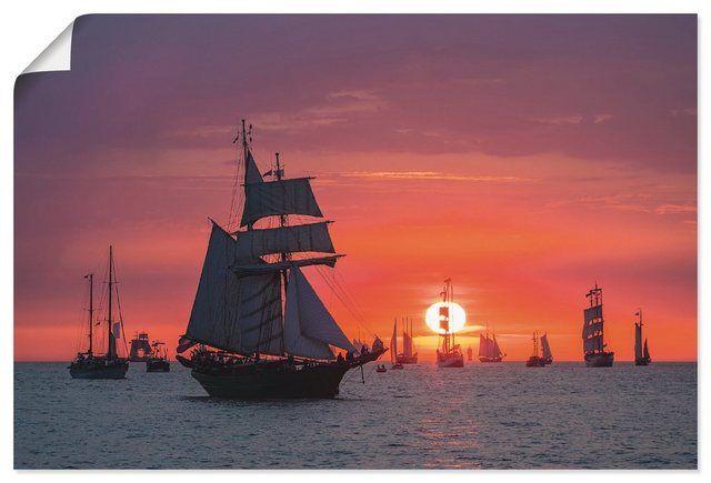 Kunstdruck Poster »R. Ködder: Segelschiffe auf der Hanse Sail«