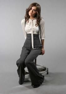 Oh these lovely tie-at-the-neck blouses! Versatile. Even better with the right pants.