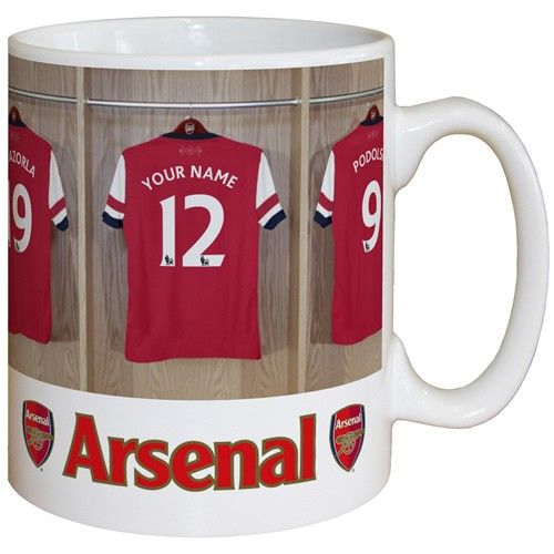Personalised Arsenal Dressing Room Mug from Personalised Gifts Shop - ONLY £9.99