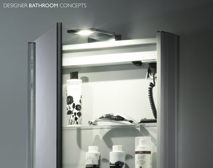 Illuminated Bathroom Mirror Cabinet With Shaver Point