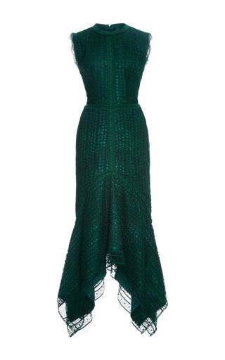 Guipure Lace Sleeveless Midi Dress by COSTARELLOS for Preorder on Moda Operandi