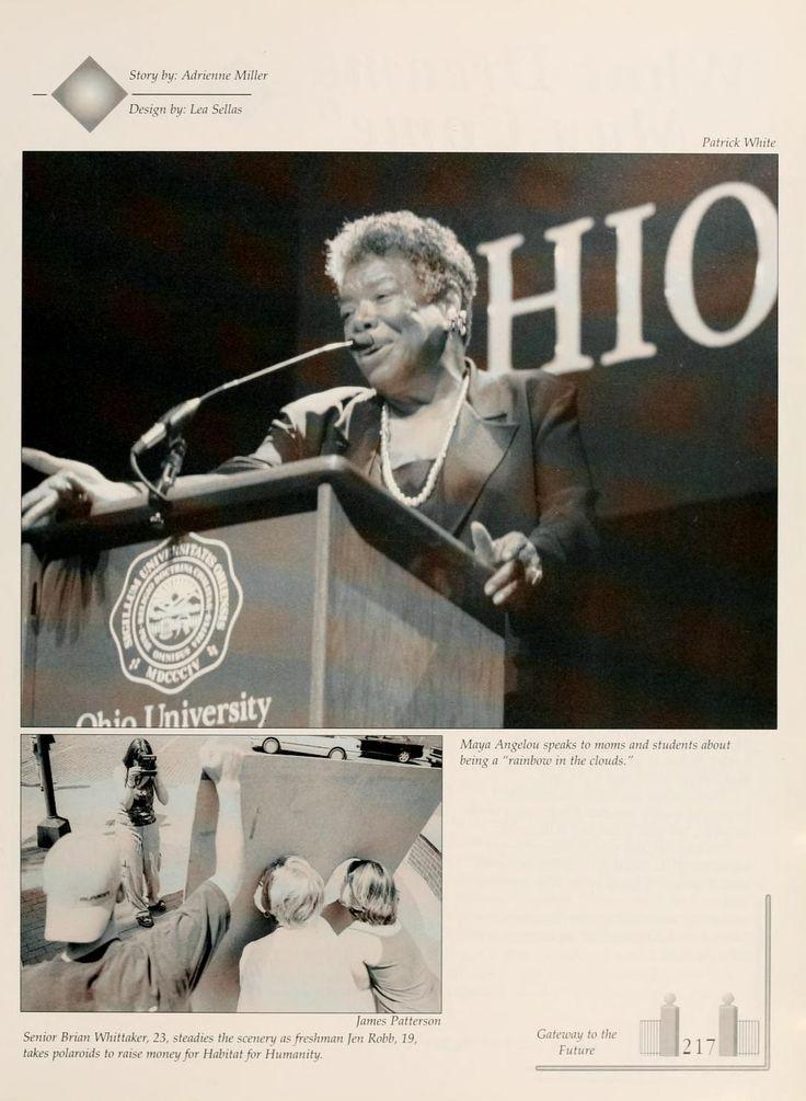 Maya Angelou and Langston Hughes