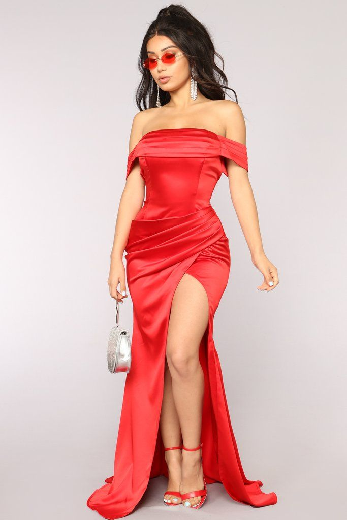 Tiara Satin Dress - Red in 2019  1e4b074fd