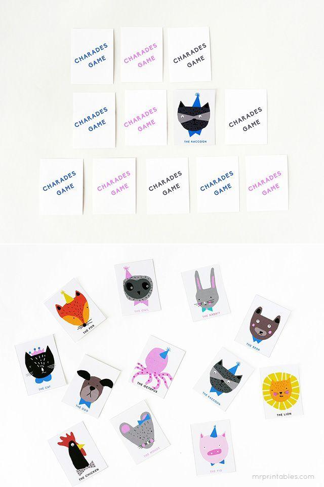 animal charades game free printable template by la maison de