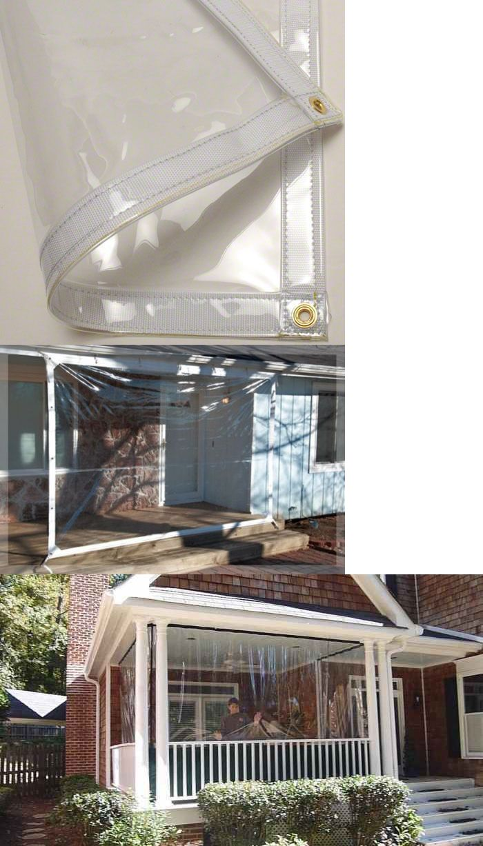 Other Structures And Shade 177026 8 X 10 Clear Glass Tarp 35 Mil Clear Vinyl Patio Enclosure Fire Retardant Buy It Now Patio Enclosures Clear Glass Patio