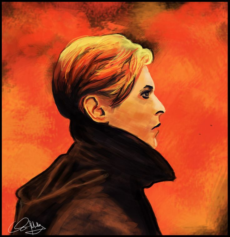 David Bowie Low painting 1. David Bowie Low / Heroes