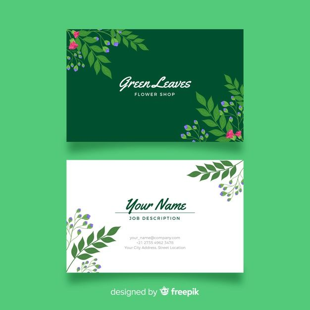 Download Elegant Floral Business Card Template For Free Floral Business Cards Free Business Card Templates Business Card Minimalist