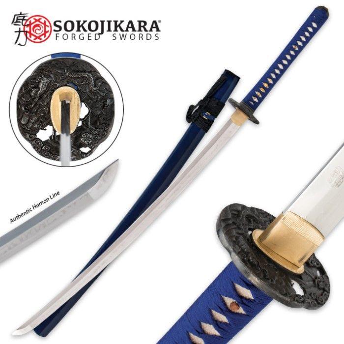 Sokojikara Королевский синий T10 Клей кованые Катана | BUDK.com - Ножи и мечи по самым низким ценам!