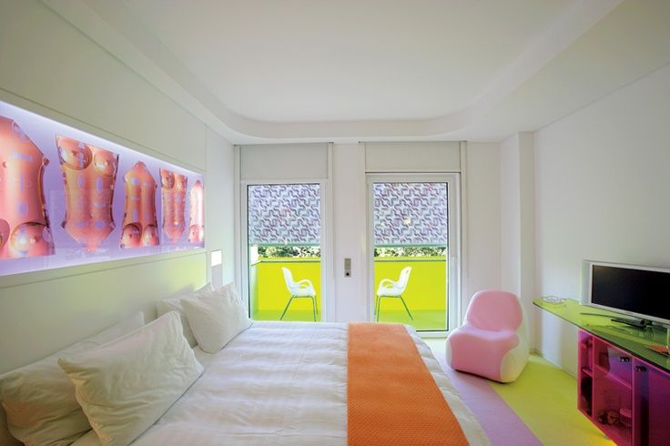 Color blast for a great week, only at Semiramis Hotel! Found on idesignarch.com