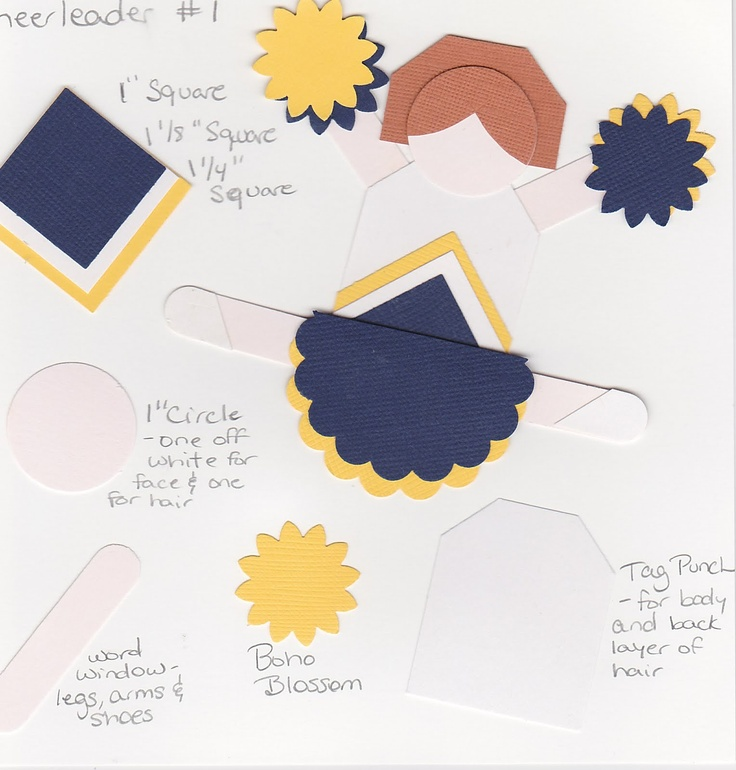 273 best ideas about papercrafts punchy on pinterest for Cheerleading arts and crafts