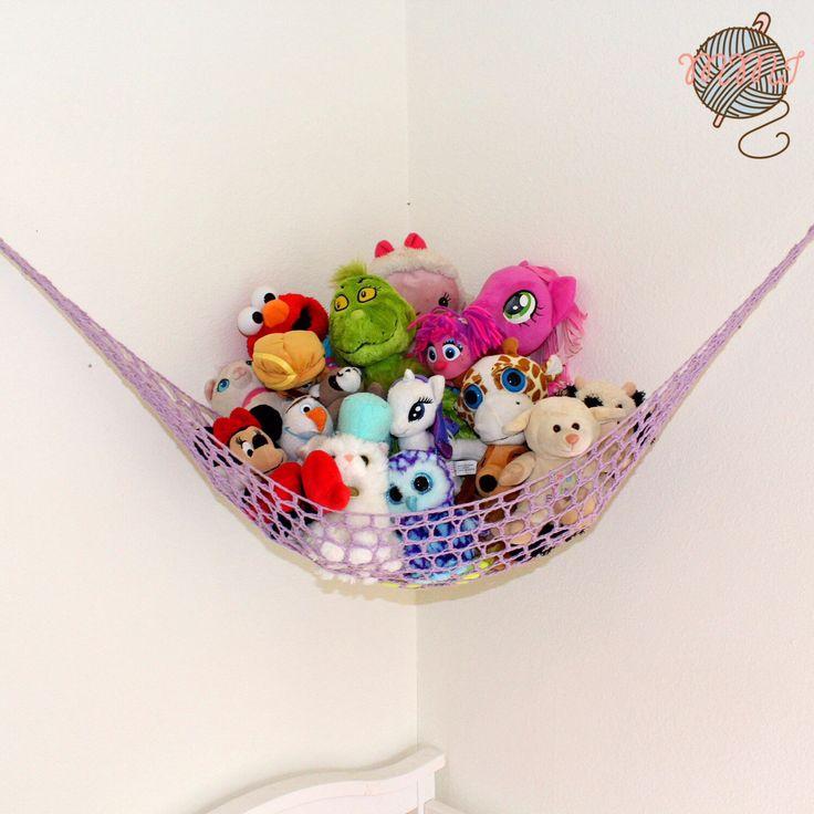 Speelgoed hangmat - speelgoed opslag - Knuffeldier - gevulde dierlijke hangmat - Toy opslagoplossing - Refular formaat speelgoed hangmat door MamaMadeItShop op Etsy https://www.etsy.com/nl/listing/218437695/speelgoed-hangmat-speelgoed-opslag