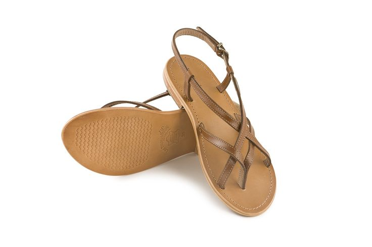 Stupendi sandali bassi in cuoio Hiboux Les Tropeziennes www.calzaveste.it. Flat leather  thong sandals.
