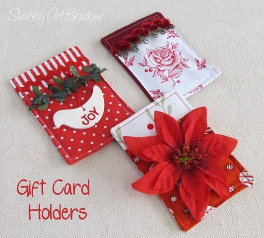 Could Use This Same Idea But With Card Stock Instead Of Fabric, Much Faster Gift  Card Holder With Awesome Tutorial :) From Shabby Art Boutique And Part Of  ...