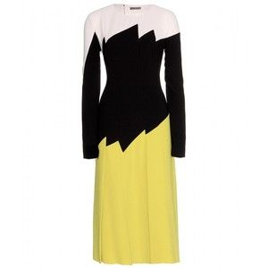 Bottega Veneta Crepe Colour-Block Dress