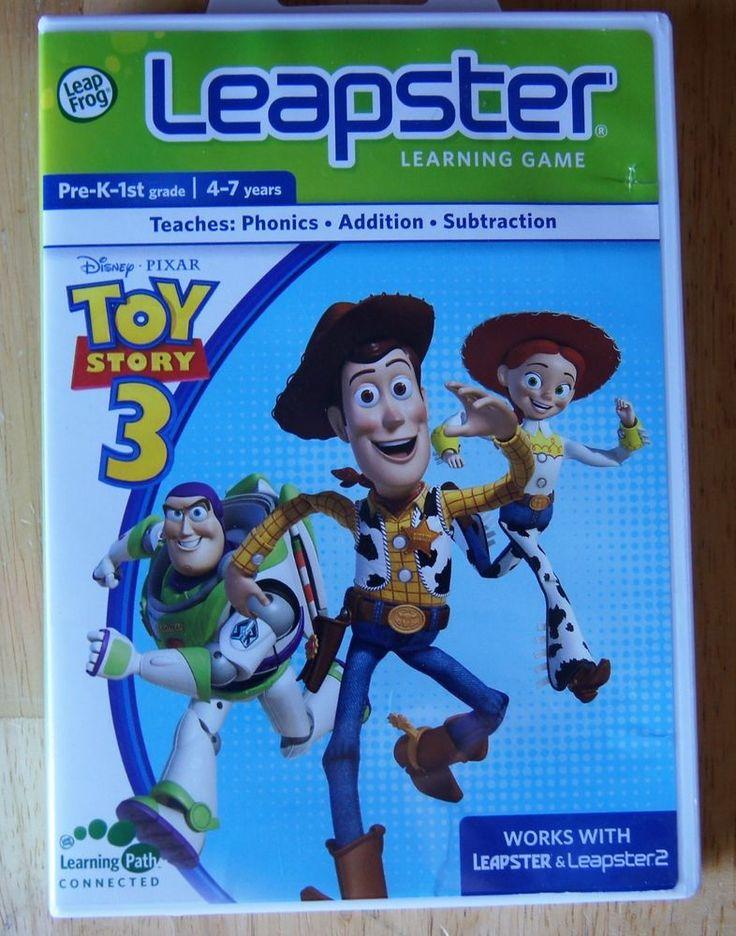 Leapfrog Leapster Explorer Disney Pixar TOY STORY 3 Game Cartridge Free Shipping #LeapFrog