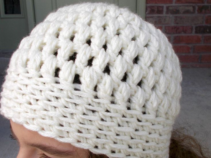 Ivory Crochet Beanie Hat with Bobbled Texture Cute Beanie Hats for Women Teens and Tweens Cream Hat Hand Crocheted Items Handmade Hats Beeny by foreverandrea on Etsy