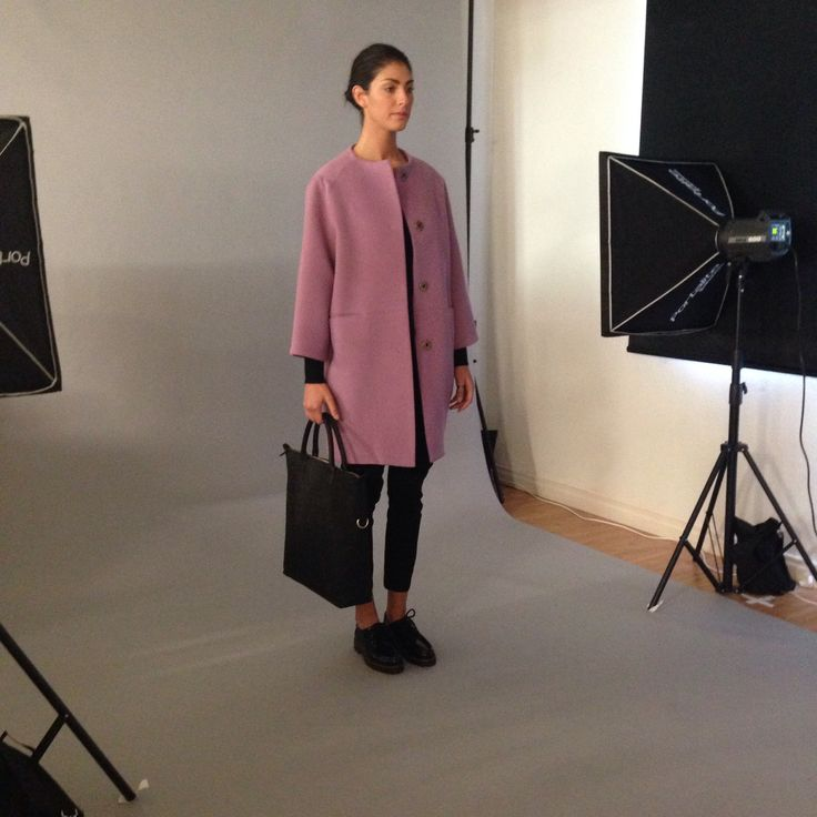 Behind the scenes of an obus online photoshoot! These coats are so gorgeous! obus.com.au