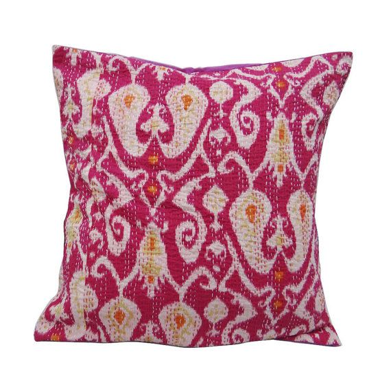 24 X 24 India Home Décor Pillow Cover Pink by RajasthanRoyals