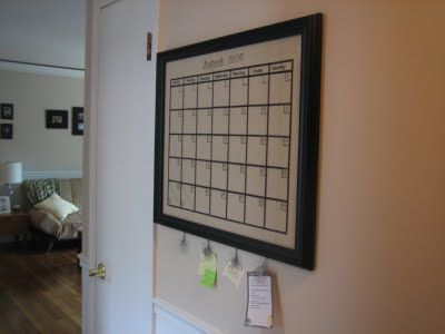 step by step directions to create a dry erase picture frame calander.