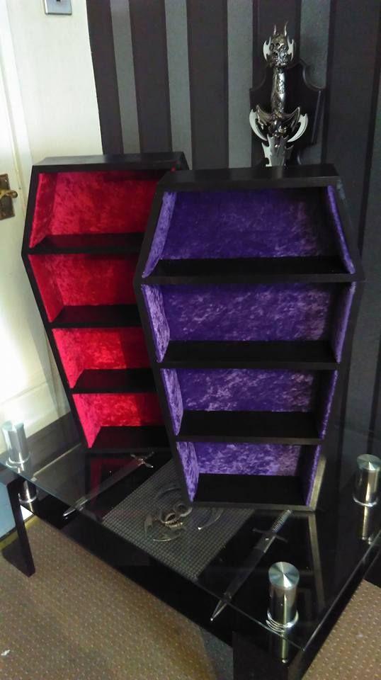 Coffin wall shelf.