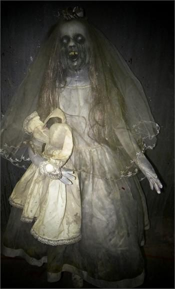SCREAMING SALLY GHOST CHILD - Full Size Haunted House Prop ...