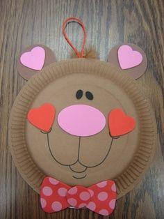 Bear Love Paper Plate Craft.