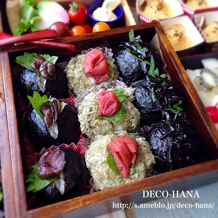 さとみ  satomi decofood's dish photo 運動会のお弁当    ご飯の段パッカンおにぎり | http://snapdish.co #SnapDish #お弁当 #お昼ご飯 #和食 #運動会 #BENTO世界グランプリ2016