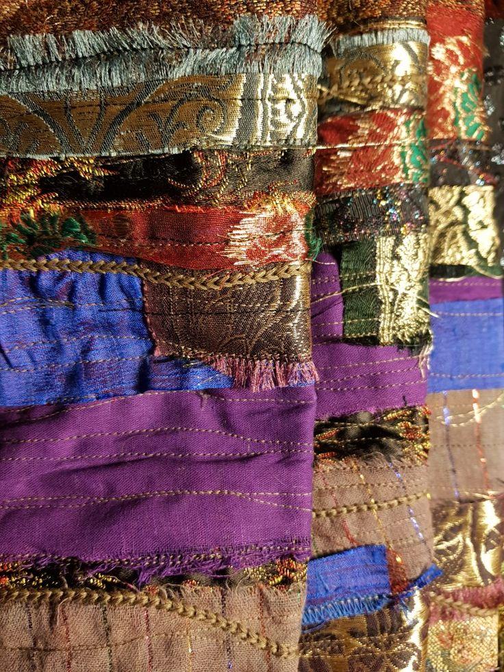 Fabrics collage by Beata Jarmolowska