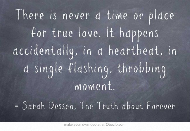 the truth about forever The truth about forever chapter 1 macy queen is the main character in the book she has a boyfriend named jason talbot who is has to have.