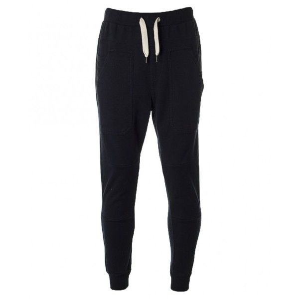 Evisu Chin Chin Sweatpants ($78) ❤ liked on Polyvore featuring mens, men's clothing, men's activewear, men's activewear pants, pants, bottoms et navy