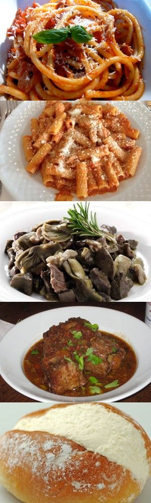 Cinque gustosi piatti tipici romani