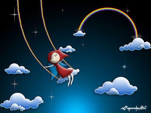 """Primera parte de la serie """"Estoy desparchado por las tardes, pero es chevere porque aprendo cosas nuevas"""" vladstudio.com/photoshoptutorials/tutorial.php?rainbows_m..."""