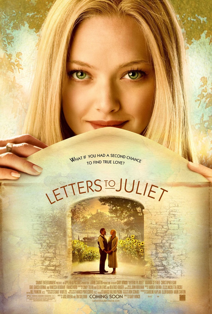 Letters to Juliet.  I saw the movie a couple of times, I will bet the book is even better