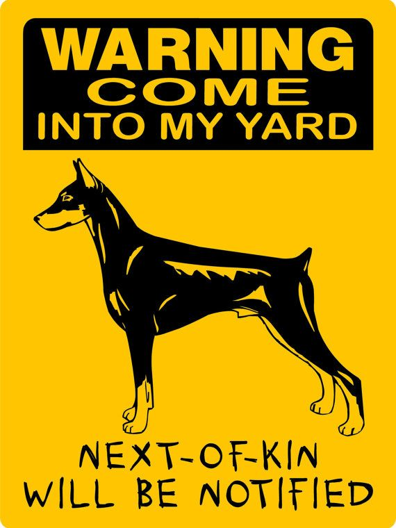 Doberman Pinscher Dog Sign 9x12 ALUMINUM 3357 by animalzrule