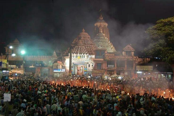 Diwali. Jagannath temple puri.