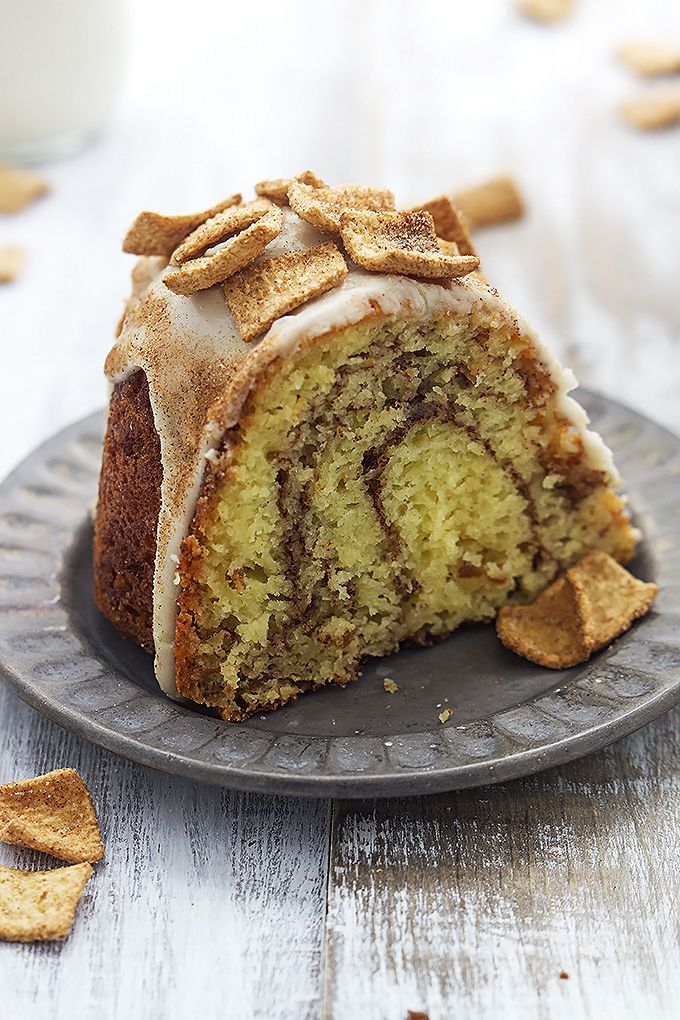 This easy and insanely moist cinnamon toast crunch bundt cake starts with a cake mix and has a cinnamon-sugar swirl and cream cheese frosting!