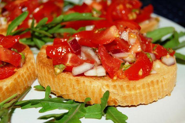 Katčina báječná kuchyně: Báječná rajčatová bruschetta