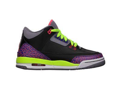 Air Jordan 3 Retro (3.5y-7y) Girls' Shoe - $115