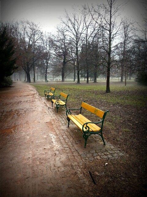 Luzanky park, the biggest park in Brno, the Czech Republic