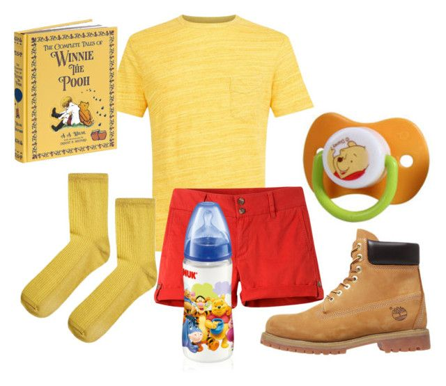 """Winnie-the-Pooh Little Boy"" by techtonic ❤ liked on Polyvore featuring Disney, Officine Générale, Mountain Khakis, Timberland, Topshop, men's fashion, menswear, littleboy, littleone and ageregression"