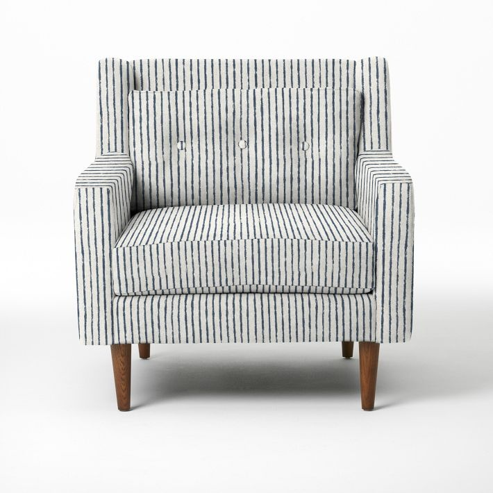 I think I found it, the chair I want for my room. Painted Stripe Crosby  Armchair from west elm - 25+ Best Ideas About Striped Chair On Pinterest Black And White