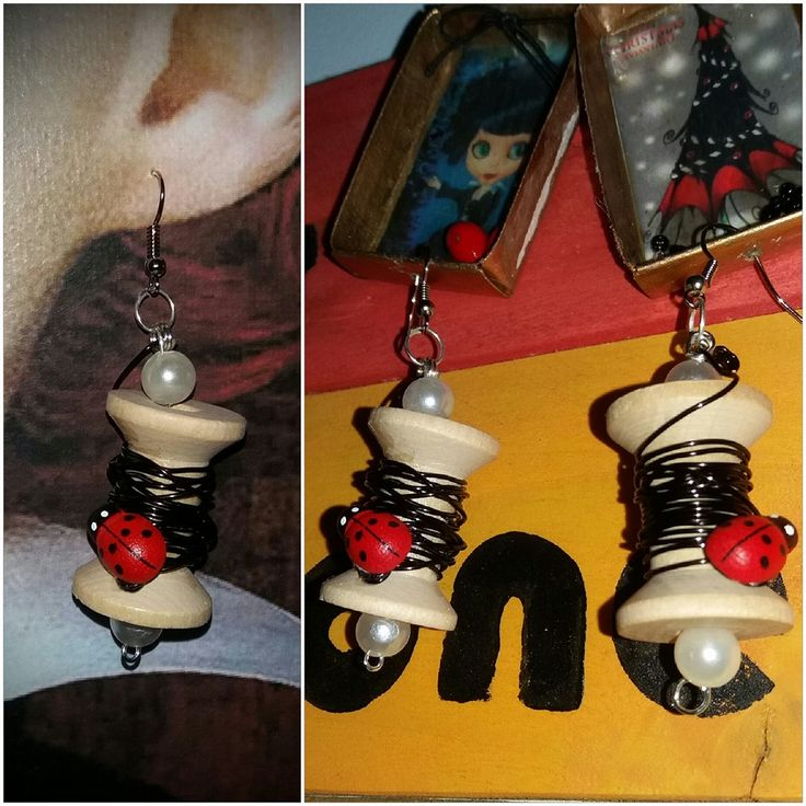 spool and wire earrings!