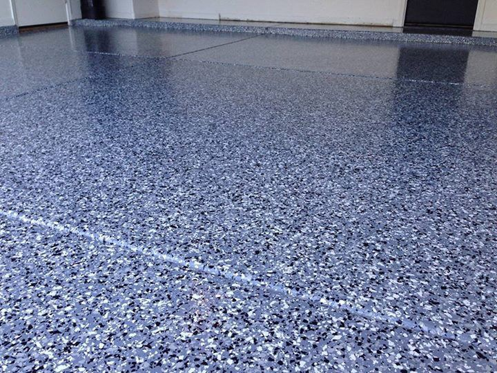 Epoxy Chip Garage Floor Installed By Re Deck Of Northwest