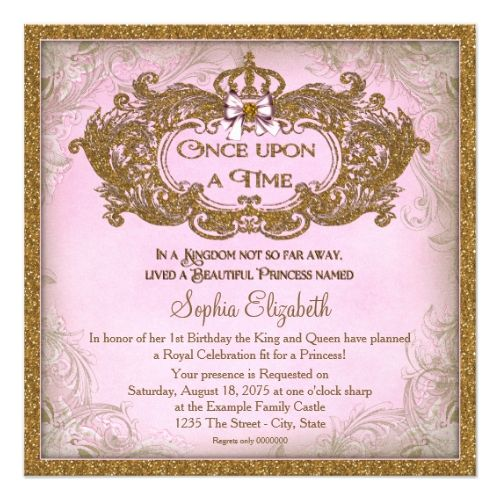 200 best Fairy Birthday Party Invitations images on Pinterest - best of invitation template princess