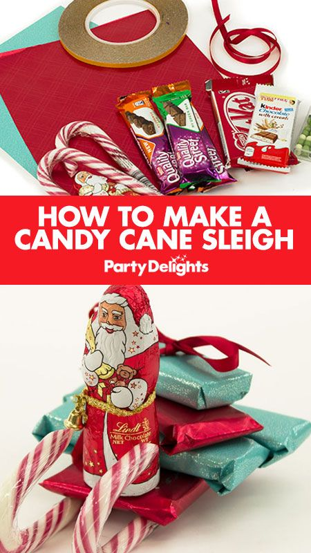 Find out how to make a candy cane sleigh with our easy Christmas DIY tutorial. An easy candy cane craft that makes a perfect Christmas present or stocking filler.