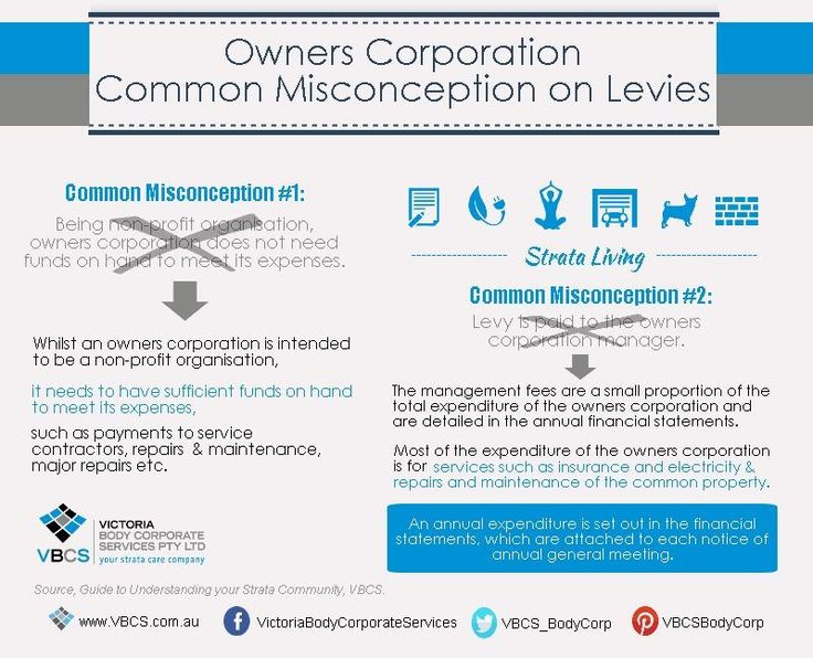 #Strata101: Owners corporations - Common misconception on levies. http://www.linkedin.com/company/victoria-body-corporate-services …  #strata #property #vic