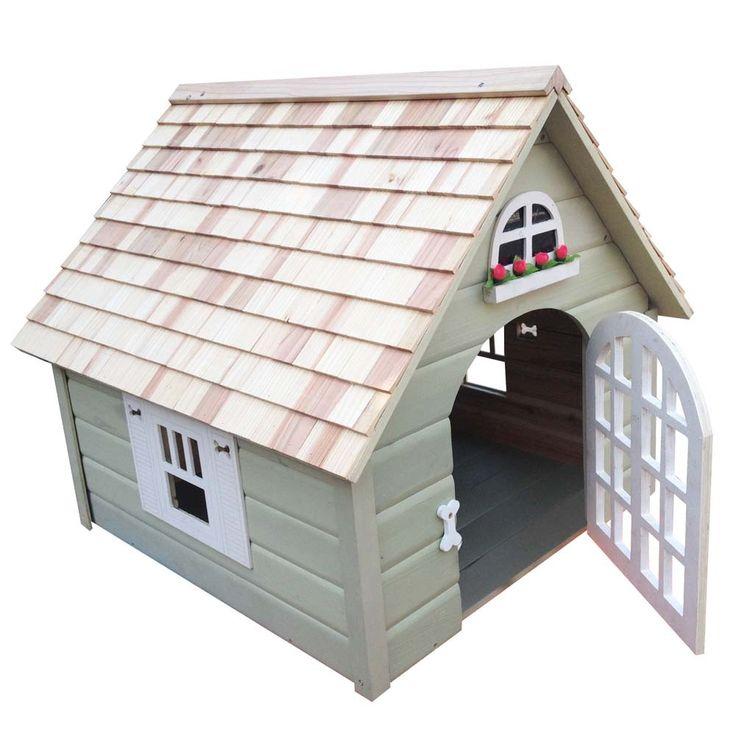 KSHB-002DHSG - Victorian Dog House - Small - Green
