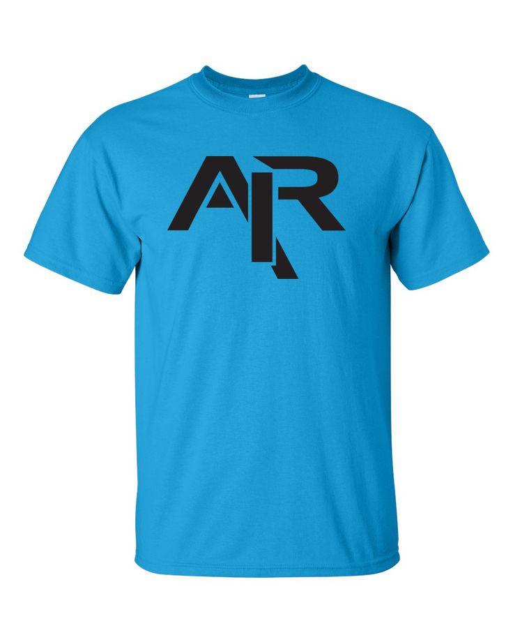 AIR Plain Black Logo Men's Gildan T-shirt